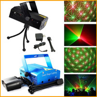Wholesale Free DHL Blue Mini Laser Stage Lighting mW Mini Green Red Laser DJ Party Stage Light Black Disco Dance Floor Lights