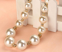 Wholesale Pearl Necklace Pearl Diamond Ball Exaggerated Collarbone necklace