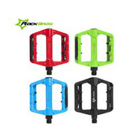 Wholesale New ROCKBROS Bike Bicycle Pedals MTB BMX DH Pedals Cycling Pedals Red quot Bike Support Foot Mountain Road Bike Pedals