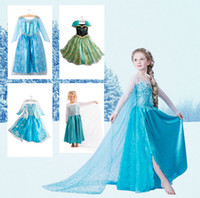 Wholesale Hot Sale Special offer New Year dresses Frozen Elsa ANNA DRESS Girls Frozen Dress Elsa Anna beautiful Dress princess dress