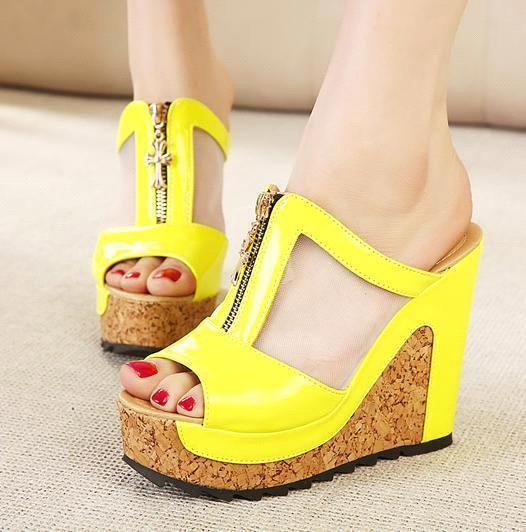 Summer Shoes New High Heels Women Flip Flops Summer Jelly Shoes ...