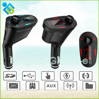 car radio with mp3 player - 2014 New Remote Car Kit LCD MP3 Player Wireless FM Transmitter with USB SD MMC Slot Blue Red Green Colors support MHz FM Radio