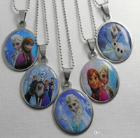 Wholesale 2014 NEW Frozen Stainless Steel Pendant Necklaces Fashion Jewelry