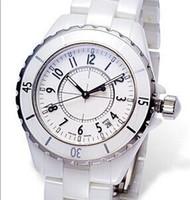 Precio de Cerámica blanca reloj de pulsera-Los regalos de señora de cerámica blancos del movimiento del cuarzo del nuevo regalo caliente de la Navidad de la venta miramos la calidad de los AAA de los relojes de las mujeres