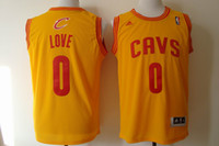 Rev30 Basketball Jerseys #0 Love Blue Yellow Embroidery Logo...