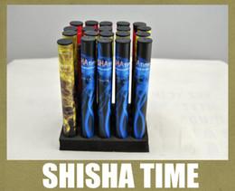 Descuento shisha humo de colores Humo colorido 500puffs Shisha pluma desechable E Cigarette 280mAh Hookah Pipe Humo Palo E Cigarette HK003