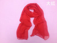 Wholesale Thin female models candy colored scarf solid color plain simple monochrome models multicolor scarf silk scarf jinyi