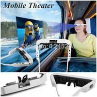Wholesale Free DHL Audio Glasses Mobile Theater inch Virtual Wide Screen Video Glasses Private Mobile Theater Eyeglasses with Private Eyewear