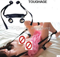 Bedding sex sling  Wholesale - Sex Sling With Hand Wrist Cuffs Restraints Bondage BDSM Games Sex Furniture Passion Love Assistant Sex Toys for Couples J408