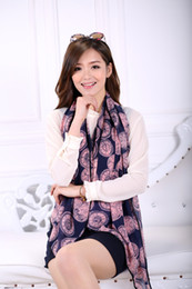 Wholesale 1PC cm Faashion Design Good feeling clock printed roll hem chiffon shawl WJ