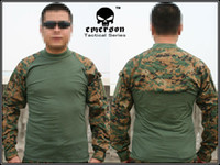 Camping & Hiking Men Full Wholesale-Emerson Tactical Combat shirt EMERSON Combat T-Shirt woodland MARPAT 8566