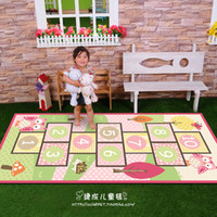 100% Nylon Embroidered Bedroom Wholesale-Hot quality 100% nylon pink Jump house child baby kids play study crawl mat carpet 80*147 for outdoor and bedroom living room
