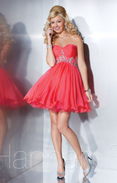Wholesale Western Style Short School Sexy Homecoming Dress colorful Beads Fashion Simple Cheap Tiered Cute Mini Prom Dresses Ball Gown Water Melon