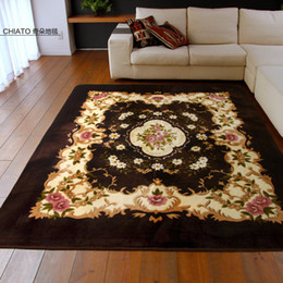 Wholesale NEW ARRIVAL For chi ato fashion flower flannel slip resistant carpet tapete huf