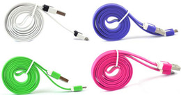 Wholesale Noodles cable USB charger cable good partners more than ten kinds of color choice samsung Galaxy S3 S4 HTC M8 LG Blackberry
