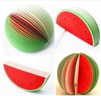 Wholesale 2014 fashion Paper orange cherry watermelon fruit Children s creative personalized stationery office supplies Shaped Note Memo Scratch Pad