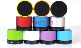 Wholesale Bluetooth Portable LED Mini Speaker wireless soundbox hd beatbox TF card slot S11 for MP3 MP4 Cellphone Tablet PC