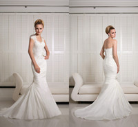 Trumpet/Mermaid Reference Images Sweetheart Vogue Victoria Jane Sweetheart 2014 Mermaid Wedding Dresses With Jacket Stretch Satin Lace Appliques Beads Backless Court Train Bridal Gown