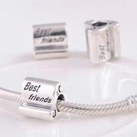 best friend flowers - Sterling Silver Charms Original FJ077C Best Friends Vintage Beads Compatible With European Pandora Bracelets