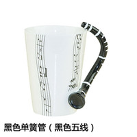 Bone China ECO Friendly Lens Wholesale-Free Shipping 2013 New Creative Clarinet Music Mug Ceramic Mug Coffee Cup novelty gift