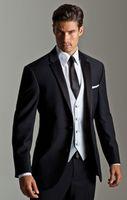 Reference Images men jacket - Top Selling New Black Jacket With White Satin Vest Lapel Groom Tuxedos Groomsmen Best Man Suit Men Wedding Suits