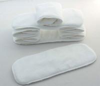 30 pcs / lot nouveau-nés des couches bébé / enfant / tissu doublures / 2 / couche nappy / microfibre inserts / serviettes / épaississement réutilisable lavable