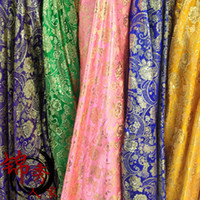 Wholesale COS costume brocade cloth fabric cloth fabric Jin Sibu wrapping packaging material gold peony flower