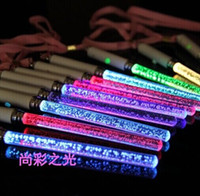 Wholesale New Christmas Toys LED Cheer Glow Sticks Acrylic Bubble Flash Wand For Kids Toys Concert Bar Party Supplies