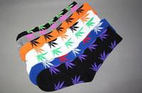 Men Stockings Knee Wholesale - 2014 HUF socks Marijuana street corner sock DGK High quality Men's Women's socks 480pcs=240pairs