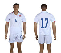 World Cup USA Home Uniforms White Soccer Jerseys Embroidery ...