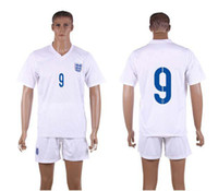 World Cup England Home Uniforms White Soccer Jerseys Embroid...