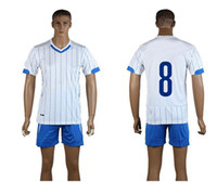 World Cup Italy Away Uniforms White Soccer Jerseys Embroider...