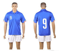 World Cup Italy Home Uniforms Blue Soccer Jerseys Embroidery...