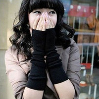 Wholesale Korean Fashion Warm Gloves And A Half Finger Revealed Hip hop Wristlet In Autumn And Winter