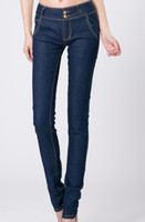 Wholesale High waist jeans female trousers pencil pants pants Korean Slim thin spring and summer a generation of fat
