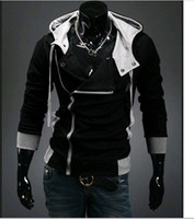 Wholesale 2014 Autumn Korean men s hooded sweater jacket Slim stayed Assassin s Creed men cardigan sweater tide