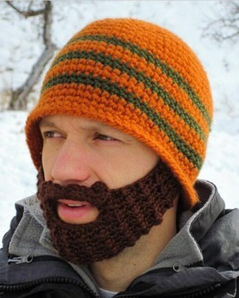Beard Beanie Pattern Knit Free Hats Beanie Beard Hat Knitted