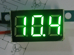 Wholesale 10X3 wire0 V Green Precise DC Digital Voltmeter F Electric Motor Car Display Voltage With Reverse Voltage Protection