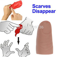 Wholesale Fake Soft Thumb Tip Finger Fake Magic Trick Close Up Vanish Appearing Finger Trick Props Toy Funny Prank Party