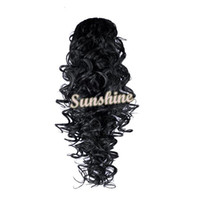 Wholesale Women s Girls One Piece quot Deep Wave Synthetic Hair Extensions Colors