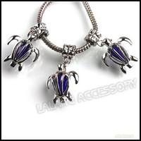 Wholesale 21pcs New Royal Blue Crystal Sea Turtle Charms Pendants Beads Fit Jewelry Making mm