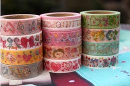 Wholesale New Japanese cartoon paper tape series washi masking Tape Decoration stationery Tape