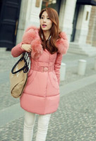 Wholesale TOMTOCE Sunflower big fox fur collar down padded winter new Korean version of Women in Long Jacket