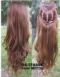 Wholesale Synthetic Wigs Half Wig Hair g quot Highlight Curly Wig Hairpieces color M27 Wig Hair