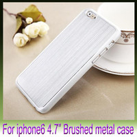Wholesale Luxury Brushed Metal Case for Apple iPhone inch iPhone6 G Electroplated PC High Quality Back Shell Cover