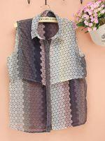 Cheap multiple color cheap cool chiffon vifille sleeveless lady fashion new design blouses summer dress dudalina shirt renda cardigan