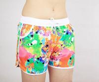 Bra Sets Polyester Board Shorts female floral beach shorts new design women board shorts 2014 fashion boardshorts quick dry fabric swimwear low price wholesale