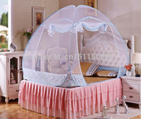 Yes Single-door NO folding mosquito net For Adult,With the mobile belt,100% polyester,canopy bed netting,Very safety,fashionable design