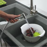 Wholesale SUS stainless steel Kitchen bathroom toilet biddets spray gun syringe bidet sanitary care set