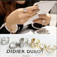 Acrylic Round Zinc Alloy 3Pcs 1Set Top Of Finger Over The Midi Tip Finger Ring Above The Knuckle Open Ring